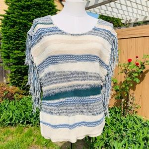 ECOTE - UO - Knit Fringe Sleeveless Sweater- M